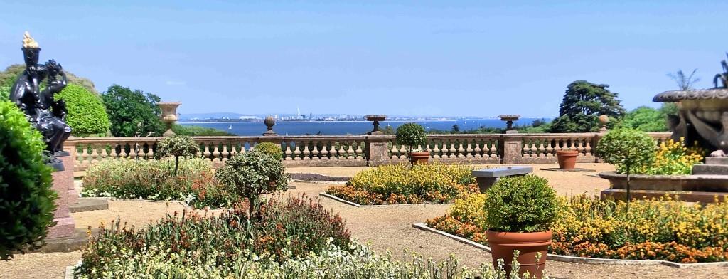 Osborne House Gardens overlooking Portsmouth