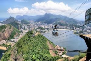 Cable car up Sugar Loaf, Rio de Janeiro