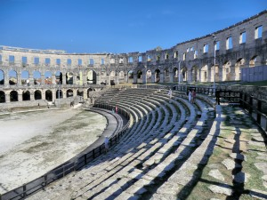 The Roman amphitheatre in Pula