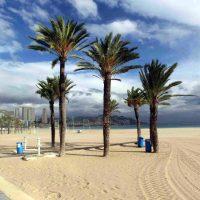 Deserted beach near Alicante in December