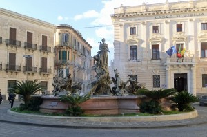 Archimede Piazza with the Fountain of Artemis