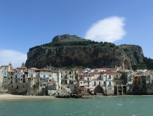 Cefalu below La Rocca