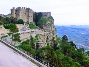 Erice Castle overlooking Western Sicily