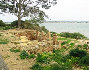 Remains of Phoenician barracks on Motya Island