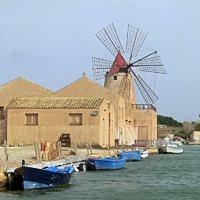 Traditional Sicilian salt mill