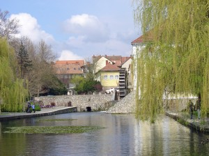 Mill pond at Tapolca
