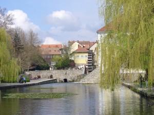 Mill pond at Tapolca