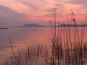 Sunset across the Balaton