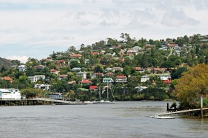 West Launceston on the Tamar River, Tasmania