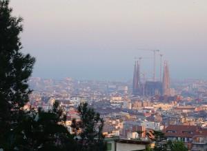Barcelona - La Sagrada Familia from Park Güell