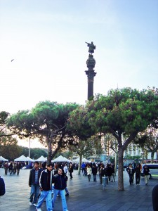 Barcelona - Columbus Monument at the end of Las Ramblas
