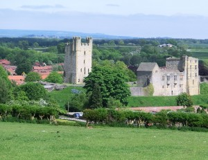 Helmsley Castle overlooking the Town
