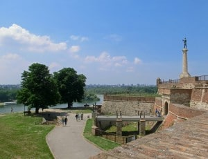 Belgrade Fortress overlooking the Danube and Sava rivers