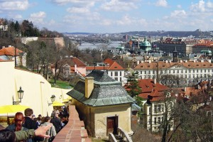 Central Prague and Vltava from Castle