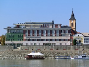 St Janos Hotel overlooking the Danube
