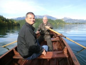 Rowing to Bled Island