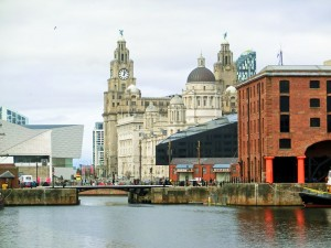 Liverpool Pier Head from the Albert Dock
