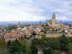 Central Spain - Segovia Cathedral Towering Over The City