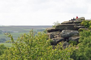 Brimham Rocks looking over Nidderdale