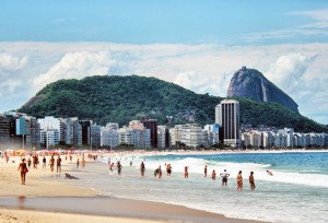 South America - Copacabana Beach and Mt Sugarloaf