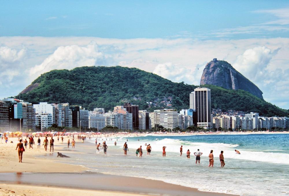 South America Copacabana Beach And Mt Sugarloaf