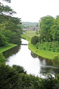 Fountains Abbey from the high path