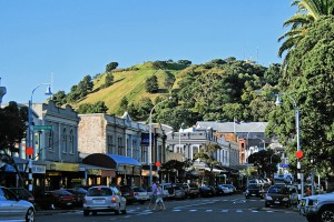 Devonport seaside village and Mt Victoria