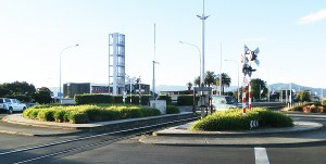 Blenheim roundabout and railway crossing