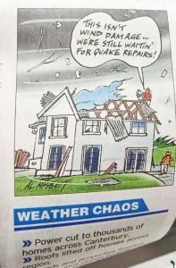 Cartoon in Christchurch newspaper