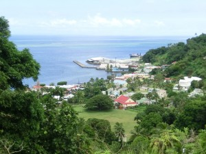 Levuka town from Mission Hill