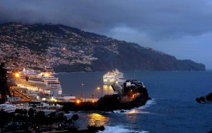 Night view of Funchal Bay - Canon G15