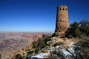 Desert View Watchtower overlooking the Grand Canyon