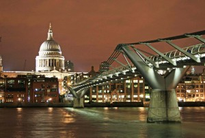 London: St Pauls Cathedral and Wobbly Bridge
