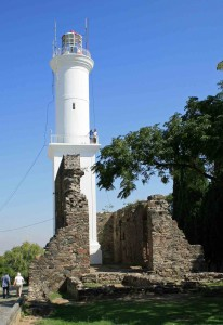 El Faro Lighthouse by the convent ruins
