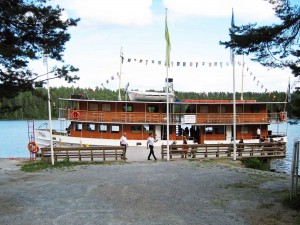 SS Heinavesi moored at Punkaharju
