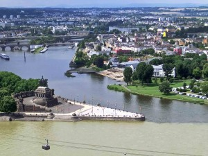 Koblenz - Deutches Eck - Moselle meets the Rhine