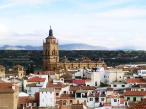 Cathedral of Incarnation towering over Guadix