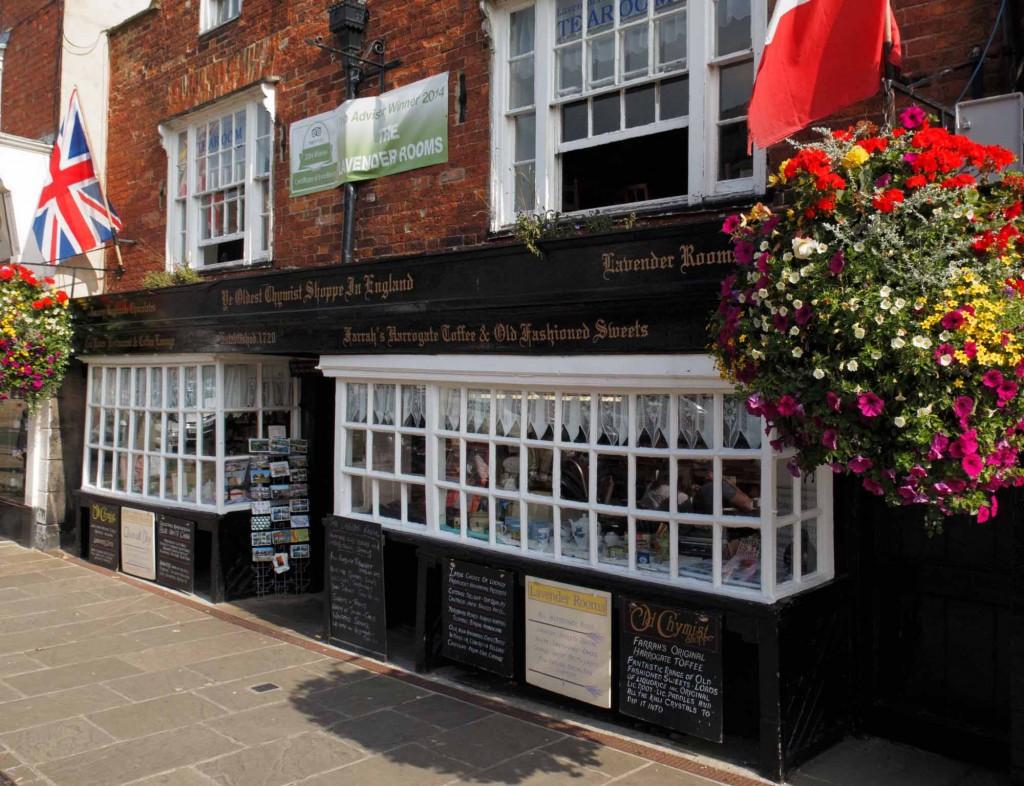 Knaresborough Market Place - Ye Oldest Chemist Shop in England