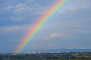 10. Rainbow near Siena