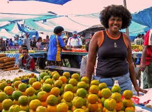 Smile - Mandarin vendor in Suva, Fiji
