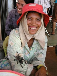 Smile - Spider seller, Cambodia