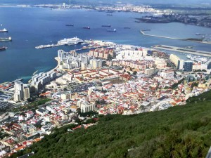 Gibraltar Town from Cable Car Top Station