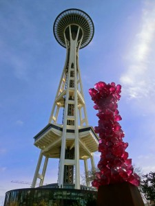 Seattle Space Needle and Chihuly Glass Sculpture