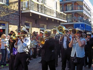 New Orleans - Krewe of Cork Parade through the French Quarter