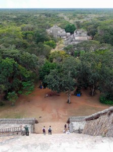 View from Mayan Temple at Ek Balam