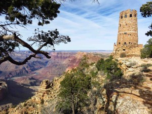 Desert View Outlook with Colorado River a Mile Below