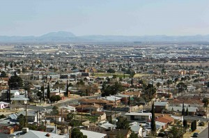 El Paso, Looking towards Mexico