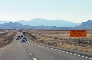 Interstate I-10 Approaching El Paso