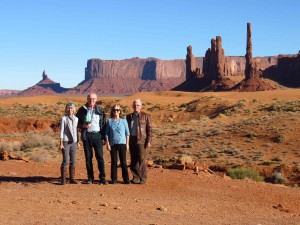 Senior Travellers on the Scenic Drive near Totem Pole