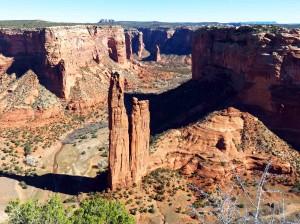 Spider Rock in Canyon de Chelley